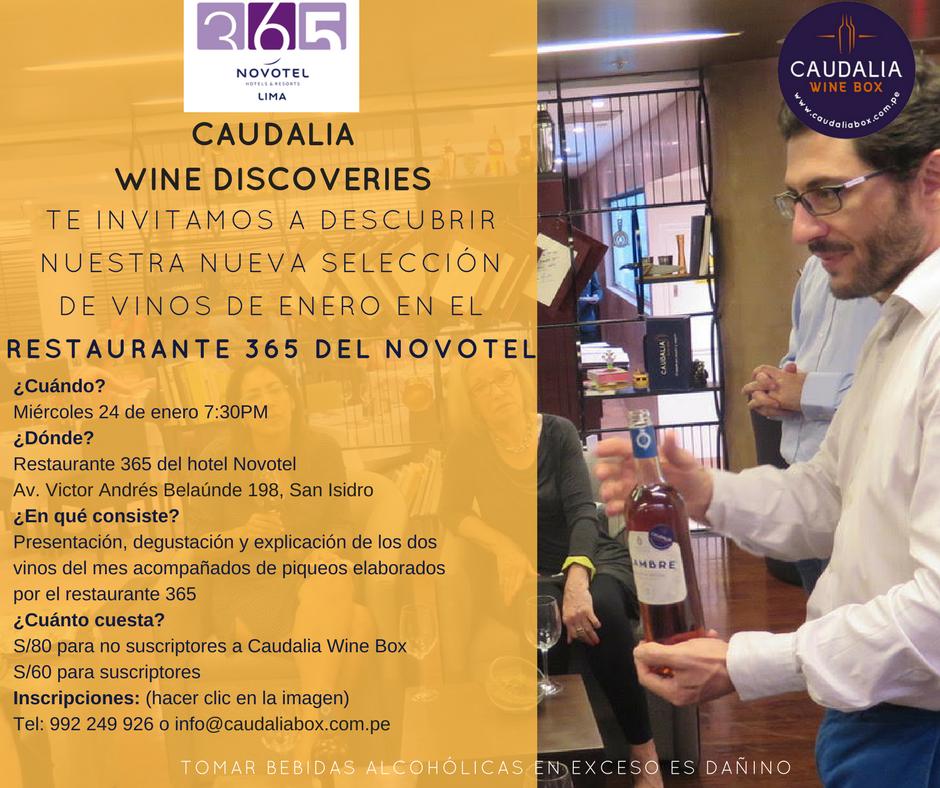 Caudalia Wine Discoveries Enero 2018